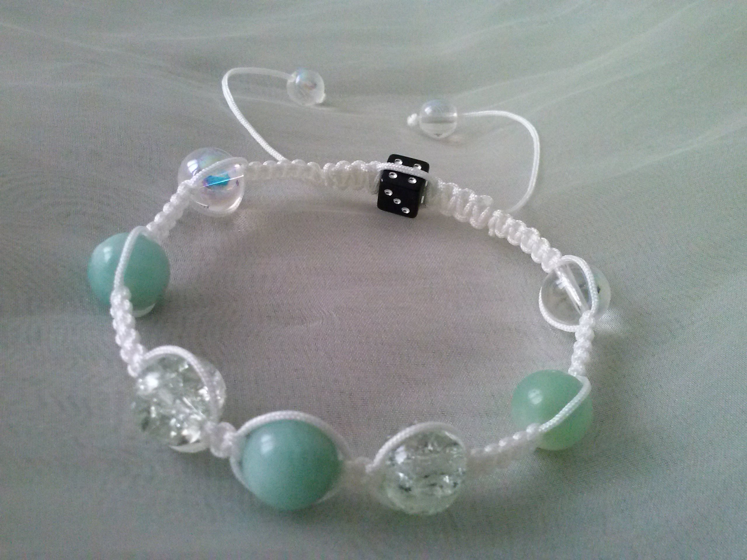 bracelet style shamballa fait main jade. Black Bedroom Furniture Sets. Home Design Ideas